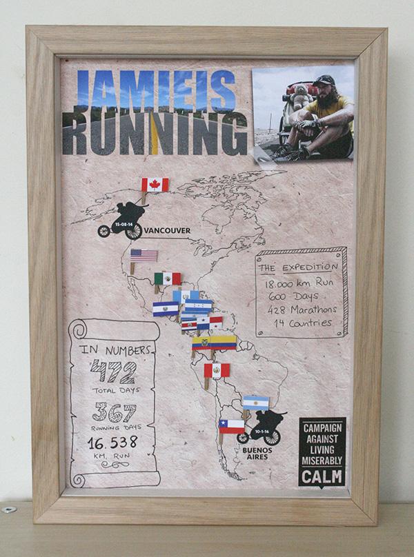 jamie is running